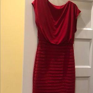 Beautiful, flattering red dress (business/eve)